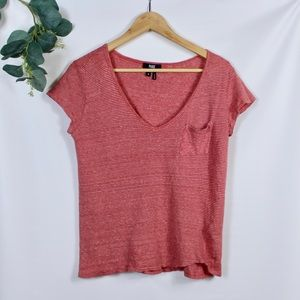 PAIGE Striped V-Neck T-shirt